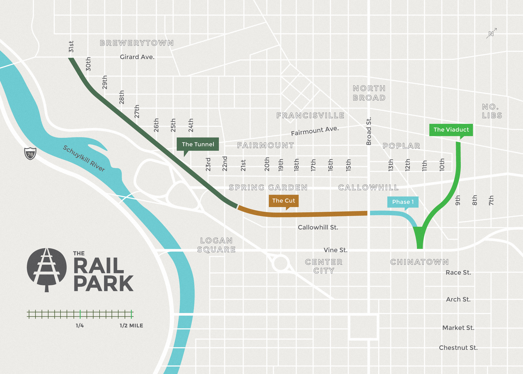 The Park Friends Of The Rail Park - Philly train map