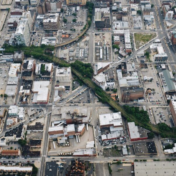 Aerial image of the Viaduct